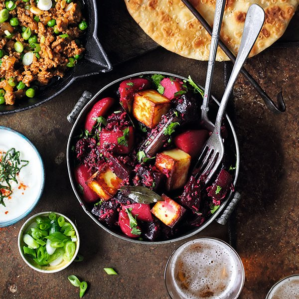 Beetroot and Tofu Curry