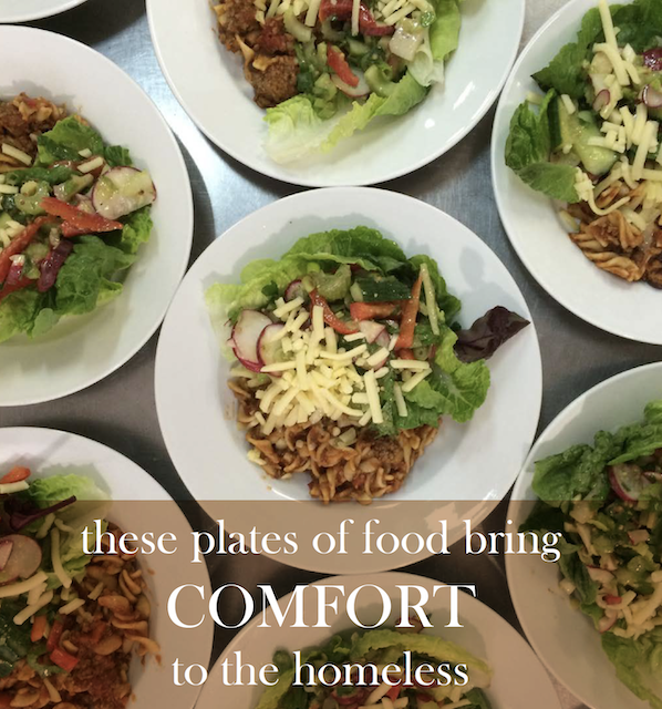 Comfort – sometimes it just means a warm meal and a conversation