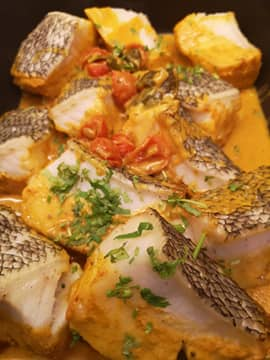 Super Yacht Rod's Gohan Fish Curry