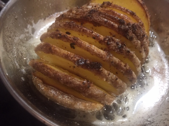 Hassle Back Potatoes to go with Your Pork!